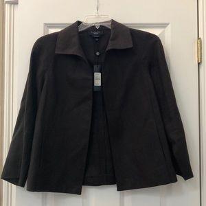 Brown Talbots linen blazer
